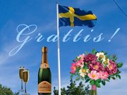 Svenskt grattiskort / Swedish Greetings